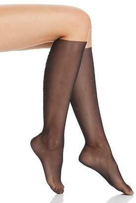 Wolford Adeline Studded Mesh Knee-High Socks
