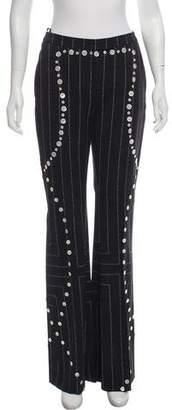 Edun Button-Embellished High-Rise Pants