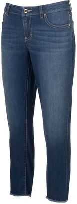 Women's Jennifer Lopez Raw-Edge Capri Jeans $50 thestylecure.com