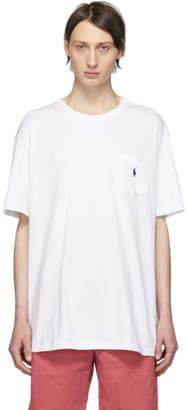 Polo Ralph Lauren White Logo Pocket T-Shirt