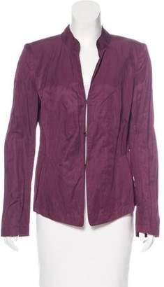Lafayette 148 Lightweight Stand Collar Jacket
