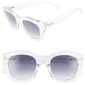 Women's Le Specs 'Runaways' 50Mm Sunglasses - Clear $59 thestylecure.com