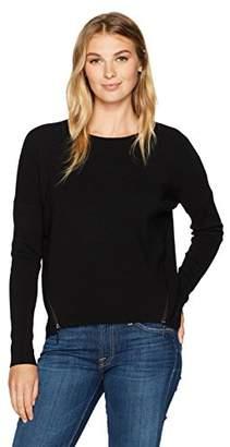 Ellen Tracy Women's Zipper Seams Sweater