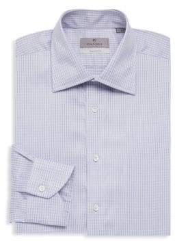 Canali Graph Check Dress Shirt