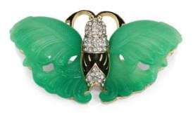 Kenneth Jay Lane Jade Wing Butterfly Pin