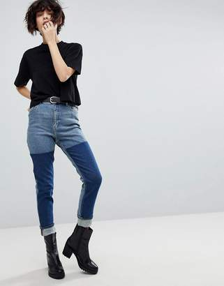 Cheap Monday Mom Jean With Colour Block Wash