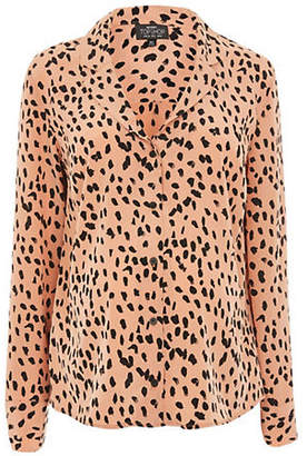 Topshop MATERNITY Leopard Blouse