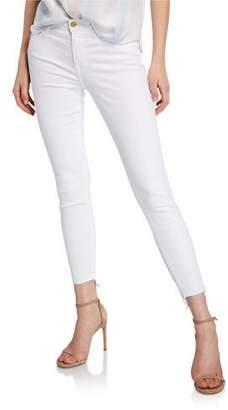 Frame Le Skinny De Jeanne Mid-Rise Raw Stagger-Hem Jeans