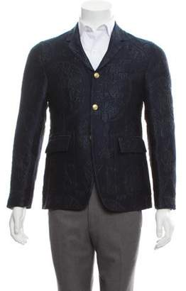 Thom Browne Wool Jacquard Blazer blue Wool Jacquard Blazer