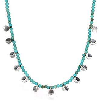 Satya Jewelry Women's Turquoise Moon Phase Choker Necklace 16-Inch