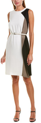 Max Mara Silk-Trim Sheath Dress
