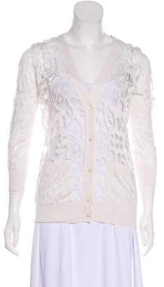 Magaschoni Silk-Blend Button-Up Cardigan