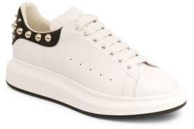 Alexander McQueen Stud Back Platform Sneakers $620 thestylecure.com