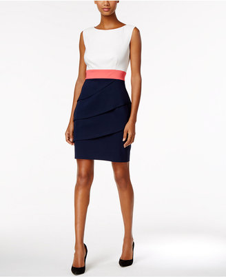 Connected Colorblocked Tiered Sheath Dress $69 thestylecure.com