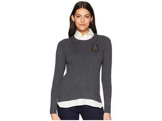 Lauren Ralph Lauren Bullion-Patch Layered Shirt