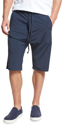 Vince Athletic Drop-Rise Stretch-Nylon Shorts $225 thestylecure.com