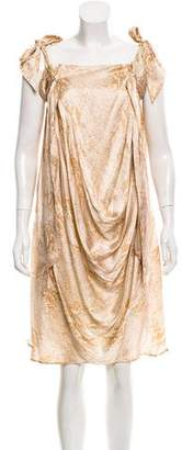 By Malene Birger Silk Draped Dress