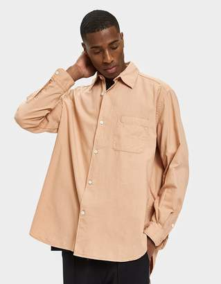 Our Legacy New Shirt in Peach Pink Basket Weave