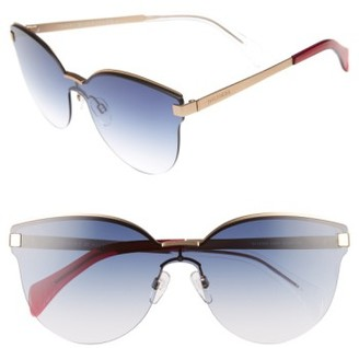 Women's Tommy Hilfiger 99Mm Rimless Cat Eye Sunglasses - Matte Gold/ Blue $150 thestylecure.com