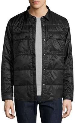 Burberry Harkstead Quilted Technical Shirt Jacket, Black $495 thestylecure.com