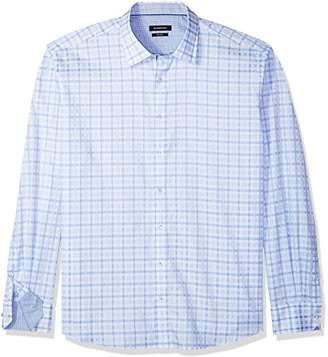Bugatchi Men's Lightweight Cotton Slim Fit Check Patterned Shirt