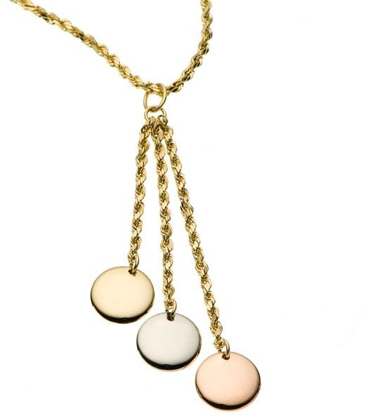 10k Gold Three Disc Necklace