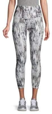 Gaiam Om High-Rise Abstract-Print Capri Leggings