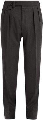 Ralph Lauren Purple Label Straight-leg wool-flannel trousers