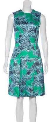 Jonathan Saunders Sleeveless Printed Knee-Length Dress