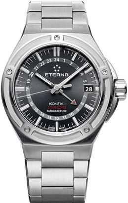 Eterna KonTiki 7740.41.41.0280 42mm Automatic Silver Steel Bracelet & Case Anti-Reflective Sapphire Men's Watch