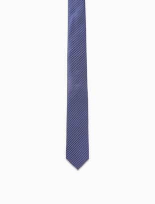 Calvin Klein Silk Pickstitch Pinstripe Slim Tie