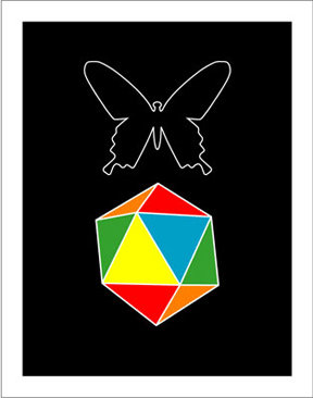 Hybrid-Home Butterfly Geometry Limited Edition Print
