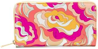 Emilio Pucci zip around abstract wallet