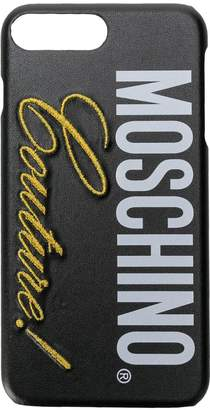 Moschino iPhone 8 plus logo case