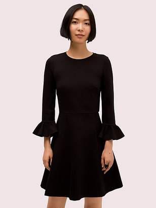 Kate Spade Bell Sleeve Ponte Dress, Black - Size L