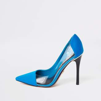 River Island Womens Blue perspex side court shoes