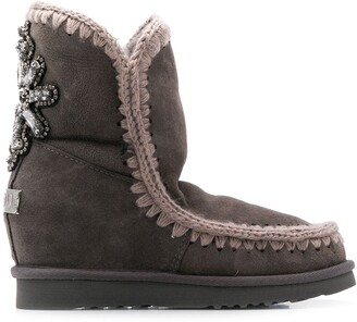 Mou Eskimo Wedge Short boots