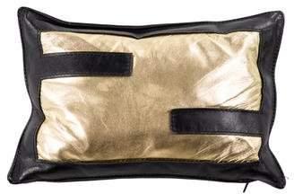 Fendi Leather Throw Pillow