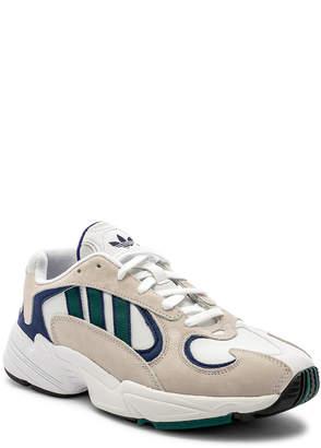 adidas Yung-1 in White & Noble Green & Dark Blue   FWRD