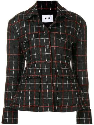 MSGM woven knit check jacket