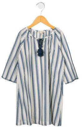 Babe & Tess Girls' Striped Woven Dress w/ Tags