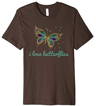 Beautiful I Love Butterflies T Shirt Butterfly Shirt Gift