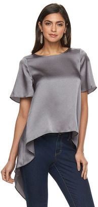 Women's Jennifer Lopez Textured Handkerchief Hem Top $48 thestylecure.com