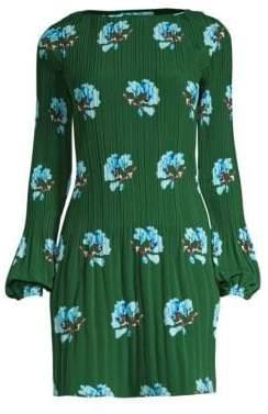 Maje Pleated A-Line Peasant Dress