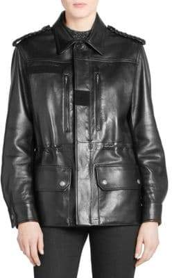 Saint Laurent Leather Military Jacket