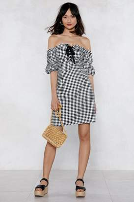 Nasty Gal Almost Square Gingham Dress