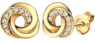 Goldhimmel Women's 925 Silver Xilion Cut Zircon Stud Earrings