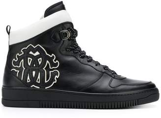 Roberto Cavalli side logo hi-top sneakers
