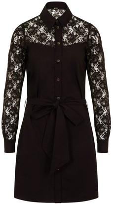 Sophie Cameron Davies Black Cotton Shirt Dress