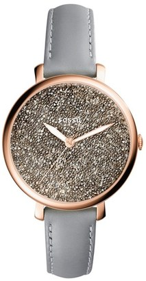 Women's Fossil Jacqueline Leather Strap Watch, 36Mm $125 thestylecure.com